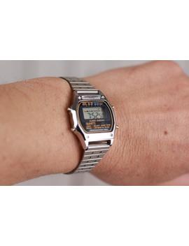 """<Span Data Inner Title="""""""">Vintage Wrist Watch Quartz, Lcd Quartz Watch, Unisex Watch Lcd, Quartz Watch, Old Wrist Watch, 80's Watch, Gift Idea, Watch With Chain</Span> by Etsy"""