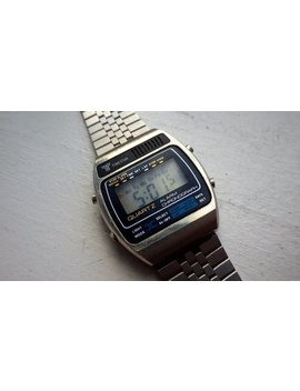 Vintage Geek   Time Star   Lcd Digital Stainless Watch   Works   Keeping Time   1980s. by Etsy