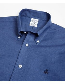 Non Iron Regent Fit Heathered Oxford Sport Shirt by Brooks Brothers