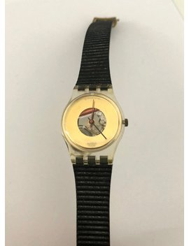 """<Span Data Inner Title="""""""">Vintage 1980's Black New Wave Era Silicon Band Women's Swatch Watch</Span> by Etsy"""