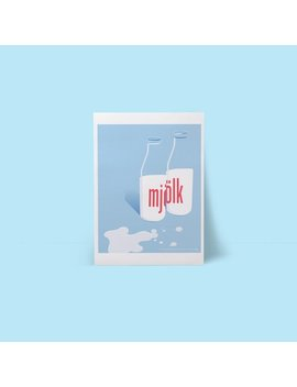 Milk Poster  Risograph Print by Etsy