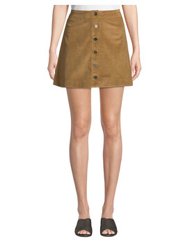 Prewitt Button Front Corduroy Mini Skirt by Elizabeth & James