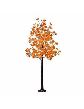 Lightshare Led Lighted Maple Tree   Dotted With 120 Warm White Led Lights, 5.5 Ft, Yellow by Lightshare
