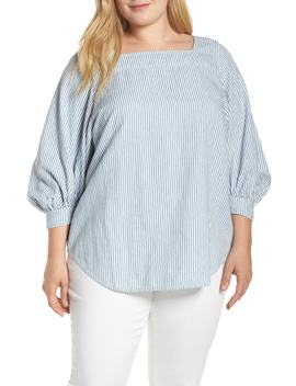 Stripe Popover Top by Lucky Brand