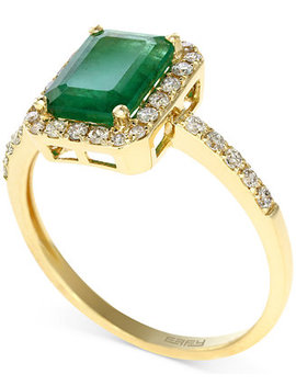 Brasilica By Effy Emerald (1 3/8 Ct. T.W.) And Diamond (1/4 Ct. T.W.) Ring In 14k Gold, Created For Macy's by Effy Collection