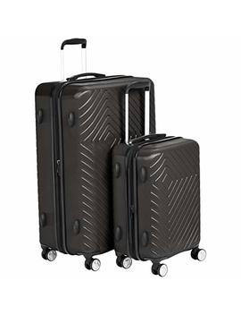 Amazon Basics Geometric Luggage Expandable Suitcase Spinner With Built In Tsa Lock by Amazon Basics