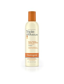 Neutrogena Triple Moisture Silk Touch Leave In Cream Conditioner For Extra Dry Hair, Damaged & Over Processed Hair, Hydrating With Olive, Meadowfoam & Sweet Almond, 6 Fl. Oz by Neutrogena