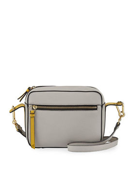 Carlin Colorblock Faux Leather Camera Bag by Neiman Marcus