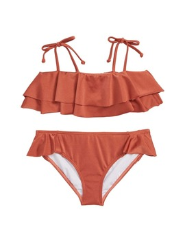 Shine Ruffle Two Piece Swimsuit by Billabong