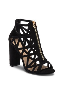 Morris Front Zip Cage Sandal by Wild Diva Lounge