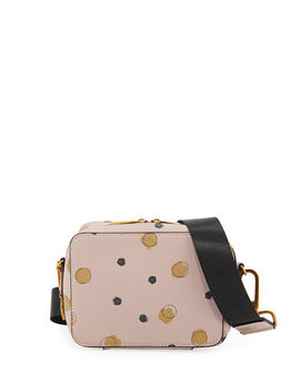 Dotted Faux Saffiano Crossbody Bag by Neiman Marcus