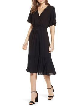 Surplice Midi Dress by All In Favor