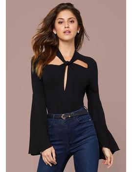Page Flare Sleeve Bodysuit by Bebe