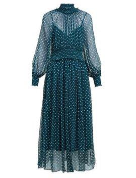 Moncur Polka Dot Silk Dress by Zimmermann