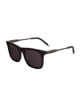 Oversized Square Acetate/Metal Sunglasses by Calvin Klein