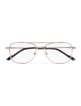 Wilderness Aviator Style Gold Tone Optical Glasses by Le Specs