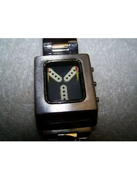Back To The Future Think Geek Watch W/Stainless Steel Band Works Good Cond by Back To The Future Think Geek