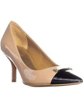 Coach Zan Pointed Toe Slip On Kitten Heel Heels, Warm Blush/Black by Coach