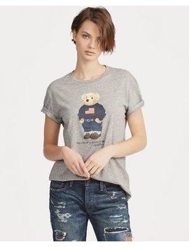 Flag Bear Cotton T Shirt by Ralph Lauren