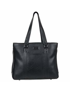 "Kenneth Cole Reaction Hit A Triple Women's Pebbled Faux Leather Triple Compartment 15"" Laptop Business Tote by Kenneth Cole+Reaction"