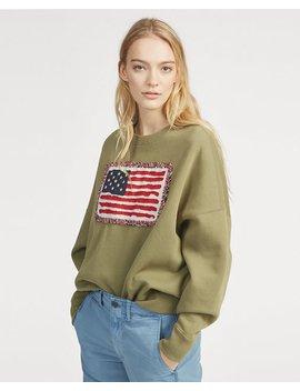 Flag Fleece Pullover by Ralph Lauren