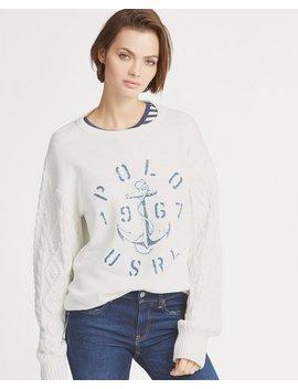 Aran Knit Fleece Pullover by Ralph Lauren