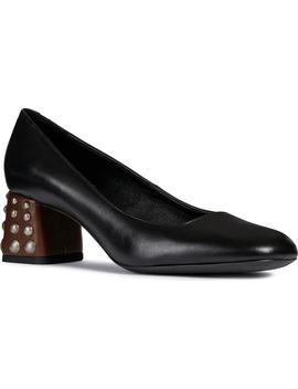 Seyla Leather Block Heel Pump by Geox