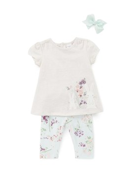Baby Girls 3 24 Months Floral Bunny Top &Amp; Leggings Set by Starting Out