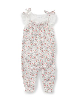 Baby Girls Newborn 9 Months Floral Romper Set by Starting Out