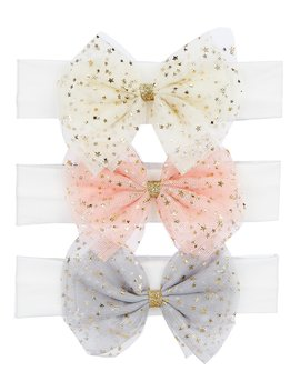 Baby Girls 3 Pack Glitter Bow Set by Starting Out