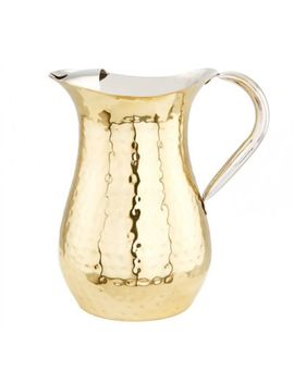 Old Dutch International Hammered Champagne Water Pitcher With Ice Guard by Bed Bath And Beyond