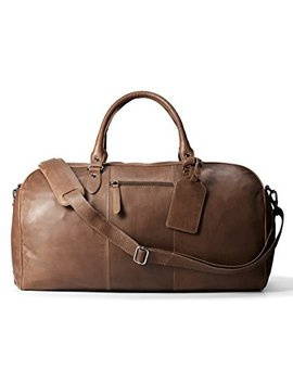 Leather Architect Men's 100 Percents Leather Duffle Bag by Leather Architect
