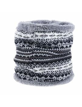 Grefer Fur Blend Ring Cowl Scarf Winter Elastic Headband Neck Warmer Scarves by Grefer