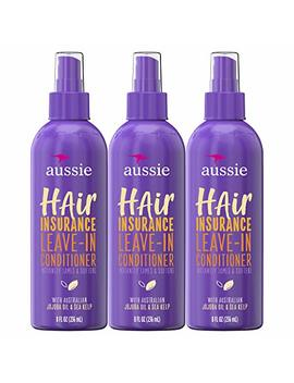 Aussie, Leave In Conditioner, With Jojoba & Sea Kelp, Hair Insurance, 8 Fl Oz, Triple Pack by Aussie