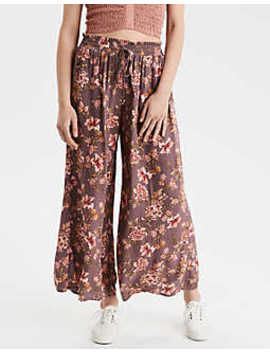 Ae High Waisted Floral Palazzo Pant by American Eagle Outfitters