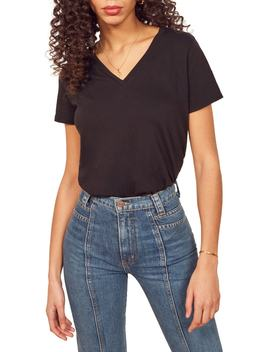 Relaxed V Neck Tee by Reformation