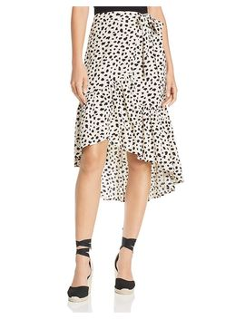 Spotted Wrap Midi Skirt   100% Exclusive by Aqua