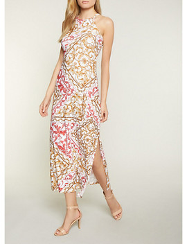 High Neck Printed Tank Dress by Rainbow