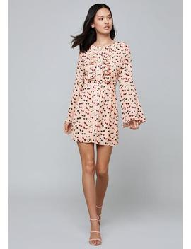Elora Flounce Sleeve Dress by Bebe