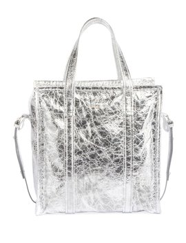 Bazar Shopper Small Aj Metallic Leather Tote Bag by Balenciaga