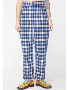 Homeroom Hottie Plaid Pants by