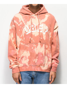 Obey New World Bleached Rose Hoodie by Obey