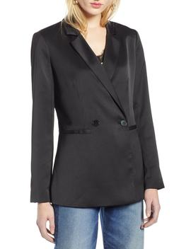Halogen(R) Satin Blazer (Regular & Petite) by Halogen