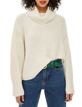 Chunky Roll Sweater by Topshop