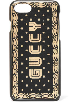 Printed Leather I Phone 7 And 8 Case by Gucci