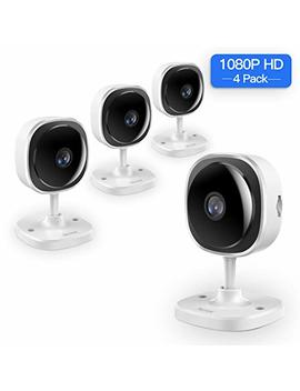[Full Hd] 1080 P Wireless Security Camera,Nex Trend 180 Degree Panoramic Ip Camera Two Way Audio, Motion Detection,Cloud Storage,Night Vision For Home/Office/Baby/Pet Monitor,Work On Phone,Pc 4 Pack by Nex Trend