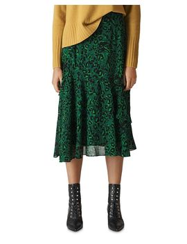 Jungle Cat Printed Skirt by Whistles