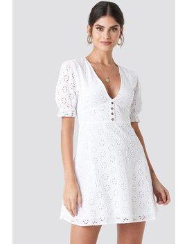 Cotton Anglaise Mini Dress by Na Kd Boho