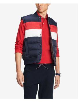 $299 Tommy Hilfiger Men's Blue White Red Down Gray Reversible Vest Jacket Coat S by Ebay Seller