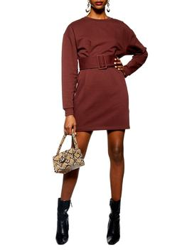 Belted Sweater Dress by Topshop
